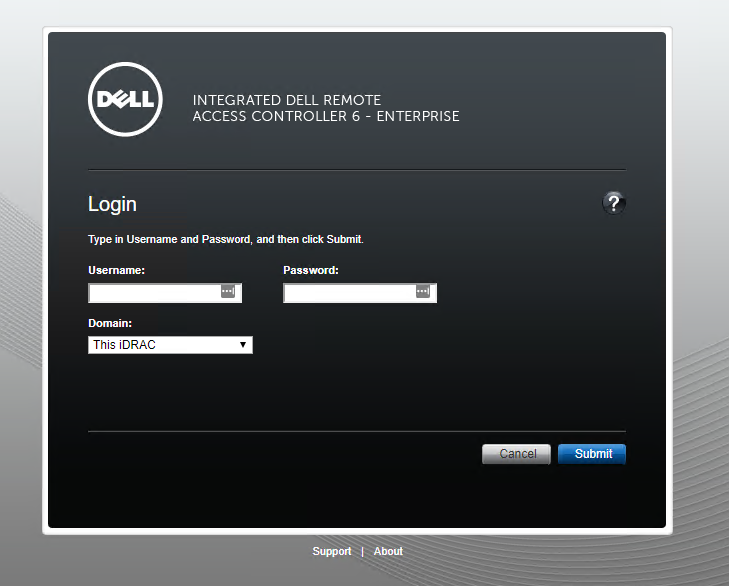 Connecting to a Dell server via iDRAC 6 - Abort, Retry, Fail?