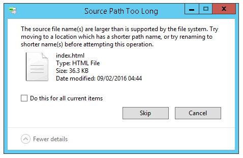 Deleting directories/files with paths too long for Windows delete
