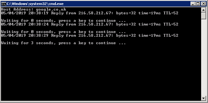 Batch File Ping Test